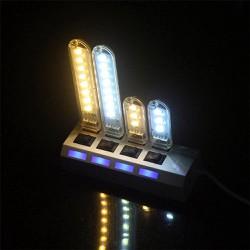 Thanh đèn LED mini gồm 3 bóng cổng cắm USB thích hợp để bàn học làm đèn ngủ đèn học đèn làm việc máy tính