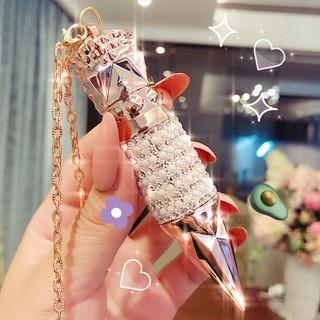 Son Lì nữ hoàng đính đá 1 cây 3 màu thiết kế sang trọng, quý phái thích hợp làm quà tặng - son0214 thumbnail