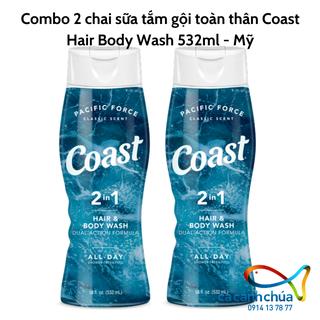 Combo 2 chai sữa tắm gội toàn thân Coast Hair Body Wash 532ml - Mỹ - Combo 2 coast 532ml thumbnail