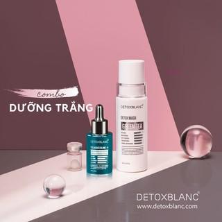 Combo Trj Mụn Dưỡng Trắng Detox Blanc Mẫu Mới Gồm Mask Thải Độc Kết Hợp Serum Đặc Trj - CBDTR thumbnail