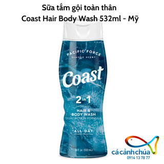 Sữa tắm gội toàn thân Coast Hair Body Wash 532ml - Mỹ - Coast nhỏ 532ml thumbnail