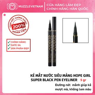 Kẻ Mắt Nước HOPE GIRL Super Black Pen Eyeliner Đường Mảnh, Dễ Kẻ Cho Người Mới Tập - HGEYE01 thumbnail
