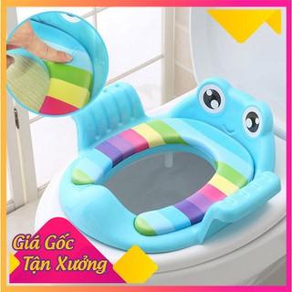 Bệ kê nắp bồn cầu trẻ em hình ếch tay vịn - Bệ kê nắp bồn cầu trẻ em thumbnail