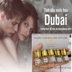 Tinh dầu nước hoa Dubai dành cho nữ - set 5 chai