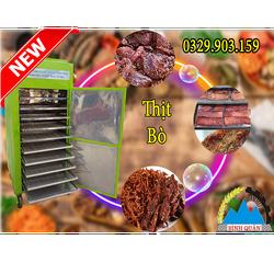 Máy sấy thịt bò Bình Quân Sấy khô các nguyên liệu thiết kế hoàn toàn bằng inox ( xanh lá )