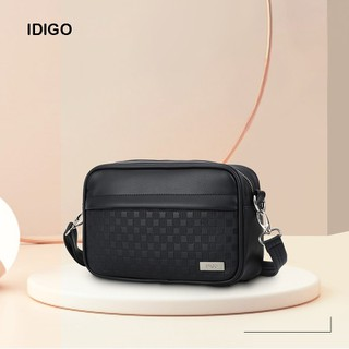 Túi đeo chéo da nam nữ chữ nhật hoạ tiết ô vuông IDIGO UB2-3362-00 - UB2-3362-00 thumbnail