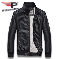 Áo Khoác da nam nữ lót lông thời trang 2020 Pigofashion cao cấp có túi hai bên, tay phối bo AD30 - fs01 chọn màu
