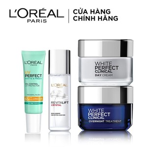 Bộ đôi kem Dưỡng Da Ngày Và Đêm Giảm Thâm Nám, bảo vệ và trẻ hóa da L Oreal Paris White Perfect Clinical 50ml (WPC N-D,ME mini, UV mini) - TULP00657CB thumbnail