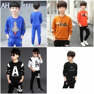 [BÃO SALE] COMBO 5 bộ 5 mẫu 5 màu ngẫu nhiên quần áo thu đông dành cho bé trai 18-28kg - 5 bộ ngẫu nhiên thumbnail