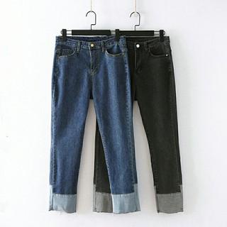 Quần jean nữ big size (Hàng Order) quần jean cho người mập - QJ021 thumbnail