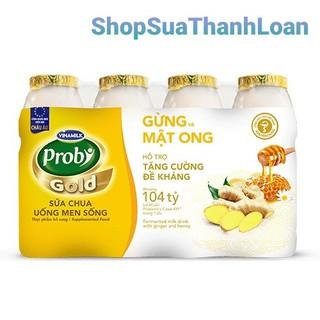 SỮA CHUA UỐNG PROBI GOLD GỪNG MẬT ONG - LỐC 4 CHAI 130ML - SCU130 thumbnail