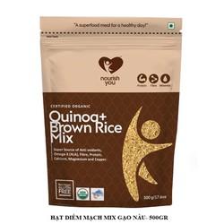 Hạt diêm mạch hữu cơ trộn gạo lứt Organic Quinoa with Brown Rice Mix Nourish You Gói 500g