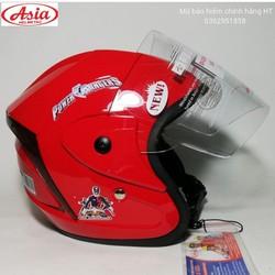 Mũ bảo hiểm trẻ em Asia chính hãng - Chùm tai kính dài phù hợp với bé từ 3 - 6 tuổi