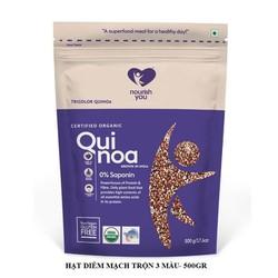 Hạt diêm mạch 3 màu hữu cơ Organic Tricolor Quinoa Nourish You Gói 500g