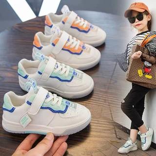 Giày trẻ em thể thao mẫu mới nhất 2020 chất vải da cao cấp siêu đẹp, siêu bền, cam kết nhìn là mê, đi là ưng [ Hàng đủ size 21-30- có 2 màu xanh, cam cho cả bé trai, bé gái] - ms41 thumbnail
