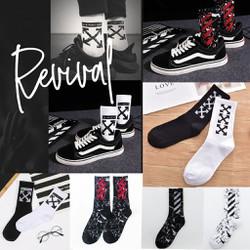 Tất Vớ  Cao Cổ Unisex Thời Trang Đi Giày Sneaker