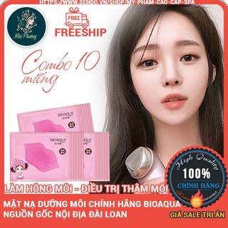 combo 10 mặt nạ dưỡng ẩm môi cao cấp giúp hồng môi BIOAQUA Chính hãng - matnamoi10 thumbnail