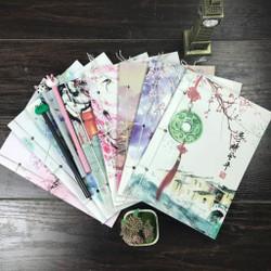 Combo 8 quyển vở xỏ dây bìa hoa cán mờ siêu đẹp