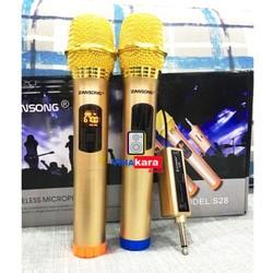 Bộ 2 Micro Không Dây ZANSONG S28 Sóng UHF Wireless Dành Cho Amly Loa Kéo