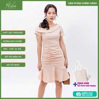 Váy đầm chữ a thời trang Eden lệch vai - D394 - D394 thumbnail