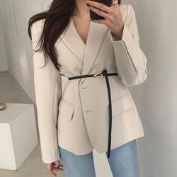 Mẩu Mới  Áo Vest/Blazer Nữ 2 Lớp Trẻ Trung Cá Tính Hàng Cao Cấp Kèm Đai Ảnh Thật