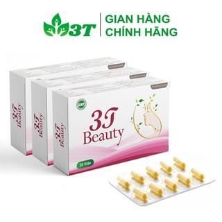 Combo 3 Hộp 3T Beauty Viên Uống Sáng Da Chống Lão Hóa, Giảm Thâm Nám, Sạm Da (Hộp Vỉ 30 Viên) - 3TBEAUTYSMC3 thumbnail