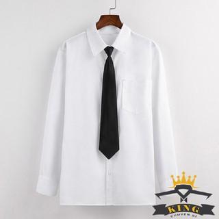 Cà vạt học sinh nữ nam bản nhỏ 5cm 6cm màu đen đỏ đô xanh - Cà vạt học sinh nam nữ bản nhỏ màu đen - C03 thumbnail