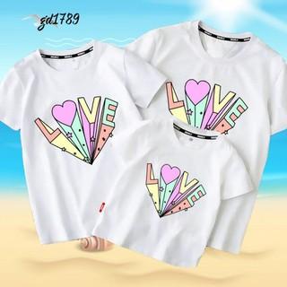 mẫu áo gia đình love - mẫu in áo thun gia đình thumbnail