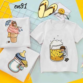 áo đôi gia đình đẹp hình bình sữa - kem-bia - áo cặp gia đình đẹp thumbnail