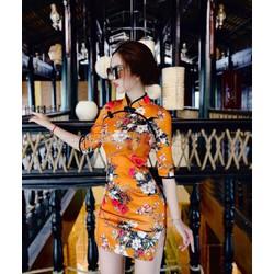 Đầm Nữ Xòe Tay Loe Cổ Tròn Cột Nơ Thời Trang Esther Fashion
