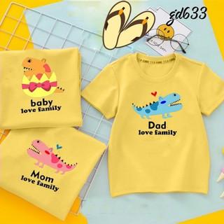 áo gia đình mùa hè mom dady baby love family - ÁO ĐÔI GIA ĐÌNH ĐẸP thumbnail