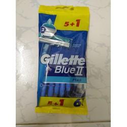 Dao cạo râu Gillette blue 2 lưỡi bịch 5 cây tặng 1 cây
