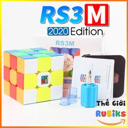 Rubik 3x3 MoYu RS3M 2020 Rubic 3 Tầng Có Sẵn Nam Châm Stickerless Khối Lập Phương (Hãng Mod M)