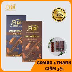 [GIẢM 5%] Combo 2 Hộp Dark Chocolate 85% + 70% 50gr, Kẹo Socola đen đắng ăn Giảm cân, Tốt cho sức khỏe, Ngăn ngừa bệnh