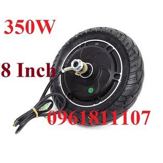 bánh xe điện 8 inch Brushless 350W - bánh xe điện 8 inch Brushless 350W thumbnail