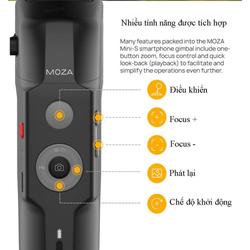 Tay cầm Gimbal chống rung cho điện thoại Moza Mini S dùng quay phim_ chụp ảnh làm Vlog_ gấp gọn_ Pin sử dụng lên đến 8H_ HÀNG NHẬP KHÂU _ BH 12 tháng
