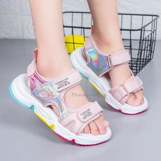 Giày sandal cho bé gái đi học từ 3-12 tuổi siêu nhẹ PD372