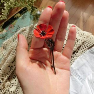 Ghim cài áo hoa đỏ - gdm937 thumbnail