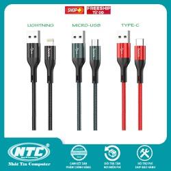 Cáp sạc nhanh và truyền data Hoco X2 Max Flash cổng Lightning Type-C Micro-USB QC3.0, max 3A, dài 1M / 2M