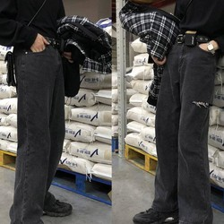 Quần jeans ống suông nam nữ - Gin Store
