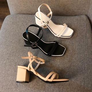 Giày sandanl mũi ngang viền gót siêu đẳng cấp - sb27266 4