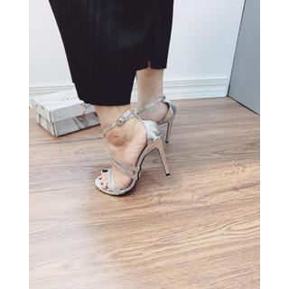 Giày Sandanl cao gót quai chéo sang trọng - dh5215 2