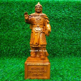 Tượng hoàng đế Quang Trung Nguyễn Huệ gỗ hương cao 30 cm - Tượng hoàng đế Quang Trung Nguyễn Huệ thumbnail
