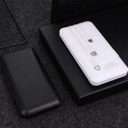 Pin sạc dự phòng 10000mAh đi kèm 3 dây sạc Lightning - TypeC - Micro USB - Hàng Chuẩn 100%