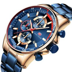Đồng hồ đeo tay thạch anh thời trang nam sang trọng 8855