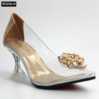 Giày cao gót nữ 7P trong suốt Rozalo R8007 - 8007 thumbnail
