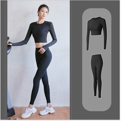 Bộ đồ tập gym nữ , bộ quần áo tập yoga tôn dáng nâng mông áo dài tay quần dài