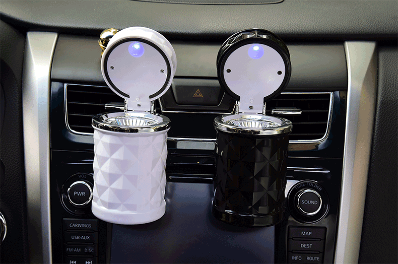 Hình ảnh Gạt tàn thuốc thông minh dành cho xe hơi-có đèn ban đêm chống mùi hôi xe oto,bền đẹp hợp thời trang