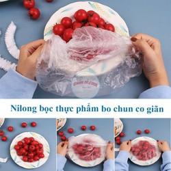 Túi 100 màng bọc thực phẩm bo chun tái sử dụng được nhiều lần