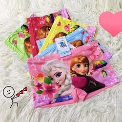 Combo 10 quần lót đùi bé gái 3D in hình công chúa Elsa, thun co giãn 4 chiều, mềm mại thoáng mát, từ 8kg đến 24kg - có combo 5 quần và 1 quần